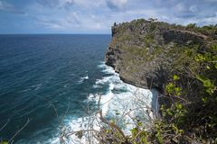 Seetempel bei Uluwatu, Bali stockfoto