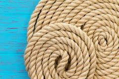 Seethemahintergrund von verwunden oben Seil Lizenzfreies Stockfoto