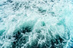 Seething atlantic sea water with foam Cape Cod Royalty Free Stock Image