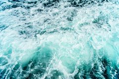 Seething atlantic sea water with foam Cape Cod Stock Images