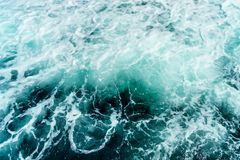 Seething atlantic sea water with foam Cape Cod Royalty Free Stock Photography