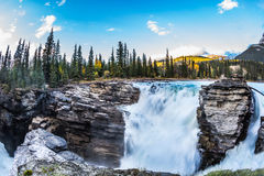 The seething waterfall of Athabasca Royalty Free Stock Photos