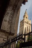 A seetrue view on the famous Giralda stock photo