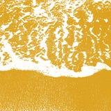 Seeufer-Beschaffenheitslinie Wasserschaum über sauberem Sand Lizenzfreies Stockbild