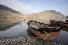Seeufer-Boote Stockbilder