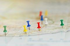 Seeufer-Reiseplanungskonzept Stockfoto