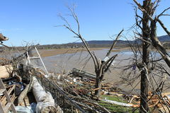 Seeufer-Tornado Lizenzfreie Stockfotografie