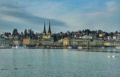 Seeuferansicht Luzerne Stockfoto