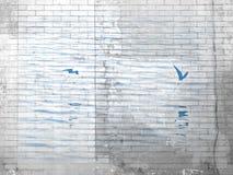 Seevögel über Wasser im Ziegelstein-Muster lizenzfreie stockfotografie