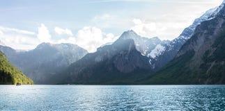 Seeversand auf dem Königssee im Bayern Stockbilder