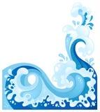 Seewelle in der dekorativen Art stock abbildung