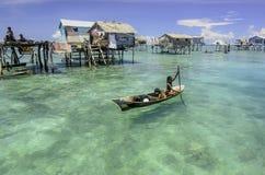 Seezigeuner bekannt als bajau laut stockfoto