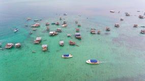 Seezigeuner Bodgaya-Insel Semporna lizenzfreies stockbild