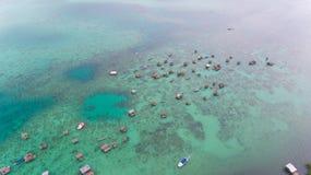 Seezigeuner Bodgaya-Insel Semporna lizenzfreie stockbilder