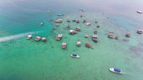 Seezigeuner Bodgaya-Insel Semporna stockbild