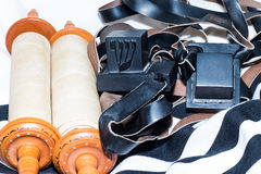 Sefer Torah (Bible), With tefillin Royalty Free Stock Photos