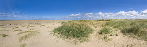 Sefton Green Beach new dunes. The Green Beach on the Sefton Coast showing new accreting dunes and Biodiversity Action Plan priority dunes Royalty Free Stock Photo