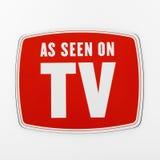 Según lo visto en la TV. Fotos de archivo