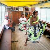 Sega dansent, île des Îles Maurice photos stock