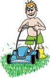 Sega do gramado ilustração do vetor
