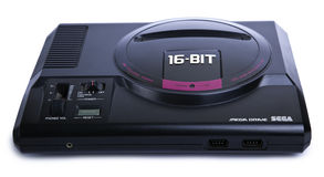 Isolated Sega Mega Drive Game Console Stock Photography