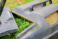 Segadeira de gramado fotos de stock