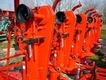 Segadeiras giratórias vermelhas Fotos de Stock Royalty Free