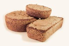 Segale del pane scuro compitata Fotografie Stock