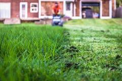 Segando o gramado Foto de Stock Royalty Free