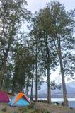 Segara anak lake camp site Stock Photos