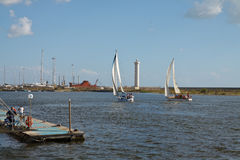 Segel-Boote Lizenzfreie Stockbilder