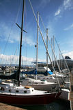 Segel-Boote Stockfoto