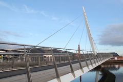 Segel-Brücke Swansea Wales Lizenzfreies Stockfoto