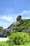 Segel-Felsen Similan-Insel Stockbild
