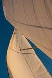 Segel im Wind lizenzfreie stockbilder