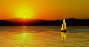 Segel-Sonnenuntergang Stockbild