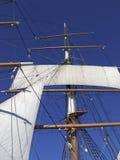 Segel und Takelung auf Masten Stockfotografie