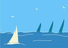 segelbåt Royaltyfri Illustrationer