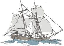 segelbåt Royaltyfri Foto