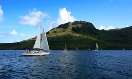 segelbåt för 2 race Arkivbild