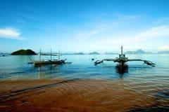 Segelbåt i El Nido Royaltyfri Bild