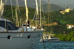 Segelbåt i Grenada Arkivbild