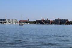 Segelbåt i hamnen Royaltyfria Foton