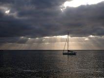 Segelbåtai-ancor Royaltyfri Fotografi
