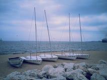 segelbåtar Arkivfoto