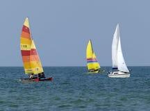 segelbåtar royaltyfria bilder