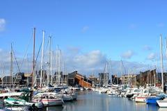 Segelbåtar i Habor Fotografering för Bildbyråer