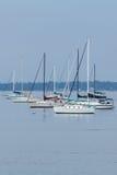 Segelbåtar i nya Keyport - ärmlös tröja Arkivfoto