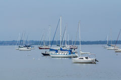 Segelbåtar i nya Keyport - ärmlös tröja Royaltyfri Fotografi