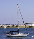 Segelbåtar i San Diego Bay Royaltyfria Bilder